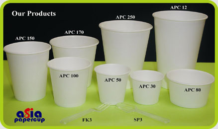 Product Range - Asia Papercup Industry Sdn Bhd